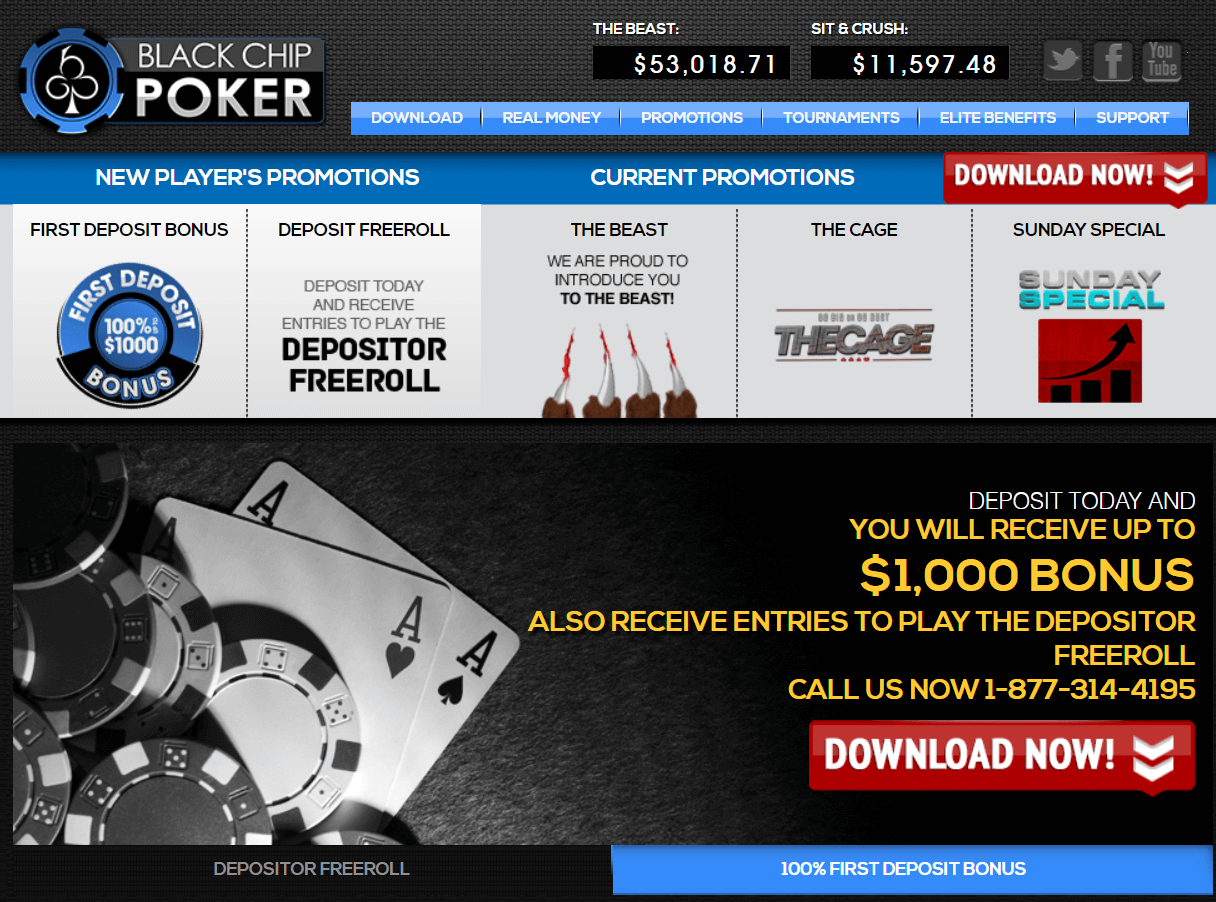 Black Chip Poker Registration Step 1