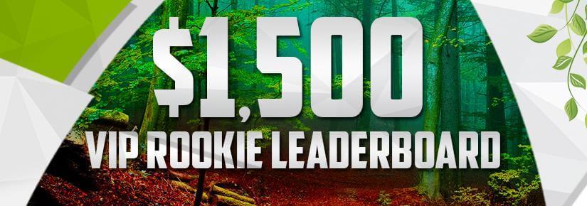 $1,500 VIP Rookie Leaderboard