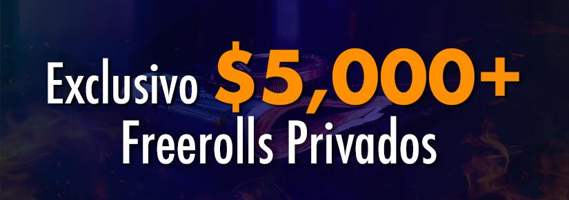 $5.000 Freerolls Privados de Novembro